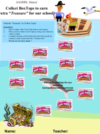 Pirates and Treasure collection sheet