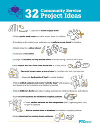 32 Community Service Project Ideas
