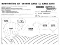 LFE Summer Bonus Sheet 2013