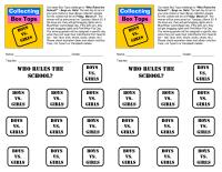 Boys vs. Girls Collection Sheet