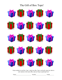 25 count BT4E holiday gift boxes collection sheet - editable in WORD