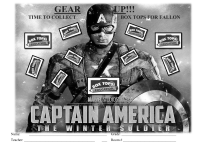 CAPTAIN AMERICA 10 count collection sheet