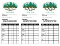 Holiday Shop Budget Envelope Label: Winter Wonderland