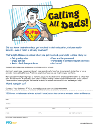 PTO Today: Calling All Dads Flyer (color)