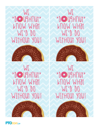Doughnut Gift Tags for Teacher Appreciation