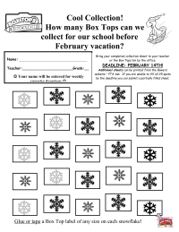 Snowflake Collection Sheet - 25 BT's