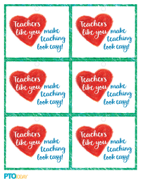 image relating to Free Printable Teacher Appreciation Tags called Trainer Appreciation Reward Tags - PTO Nowadays