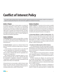 PTO Today: Conflict of Interest Policy
