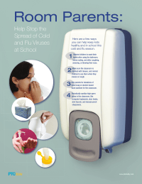 Stop Germs Poster for Room Parents