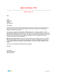 PTO Today: Auction Donation Solicitation Letter 1   PTO Today