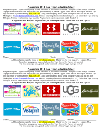Promoting eBox Tops Collection Sheet