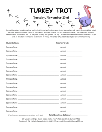 Turkey Trot Collection Form
