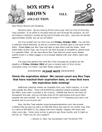 Fall Collection Contest - Parent Letter