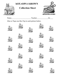 25 count Bobcat Collection sheet