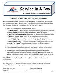 Classroom Community Service Project Ideas