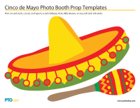 Cinco de Mayo Photo Booth Prop Templates