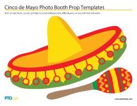 cinco de mayo photo booth prop templates pto today