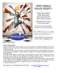 Movie Night flier