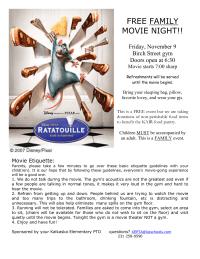 Movie Night flier