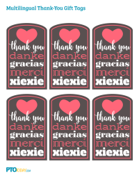 Teacher appreciation gift tags pto today multilingual thank you gift tags negle Images