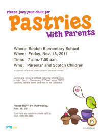 Pastries With Parents Poster