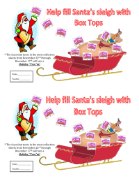 Help Fill Santa's Sleigh with Box Tops