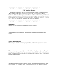 PTO Teacher Survey