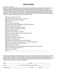volunteer questionnaire template - surveys pto today