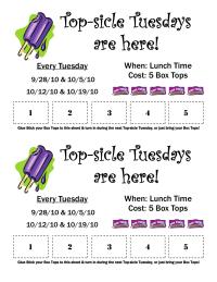 Top-sicle Tuesdays!